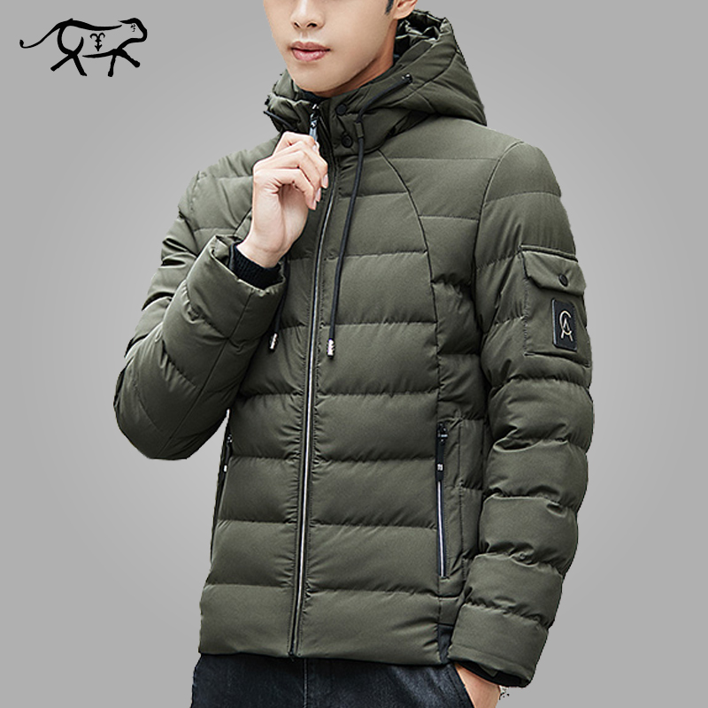 Brand Winter Jacket Men Clothes 2018 Warm Padded Hooded Overcoat Fashion Casual Down   Parka   Male Jacket And Coat Mens Hoodies 4XL