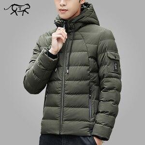 Image 1 - Veste et manteau dhiver à capuche pour homme, vêtements chauds et rembourré, à la mode, Parka pour hommes, 2018, 4XL, décontracté