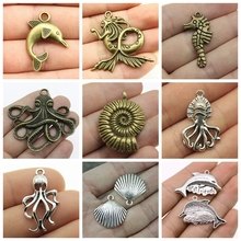 Mix Mermaid Jewelry Charms For Making Diy Craft Supplies Shell Findings Components Handmade Gift Women