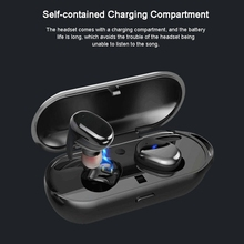Mini Bluetooth Earphones/Headphones with Powerful BASS – TWS Music