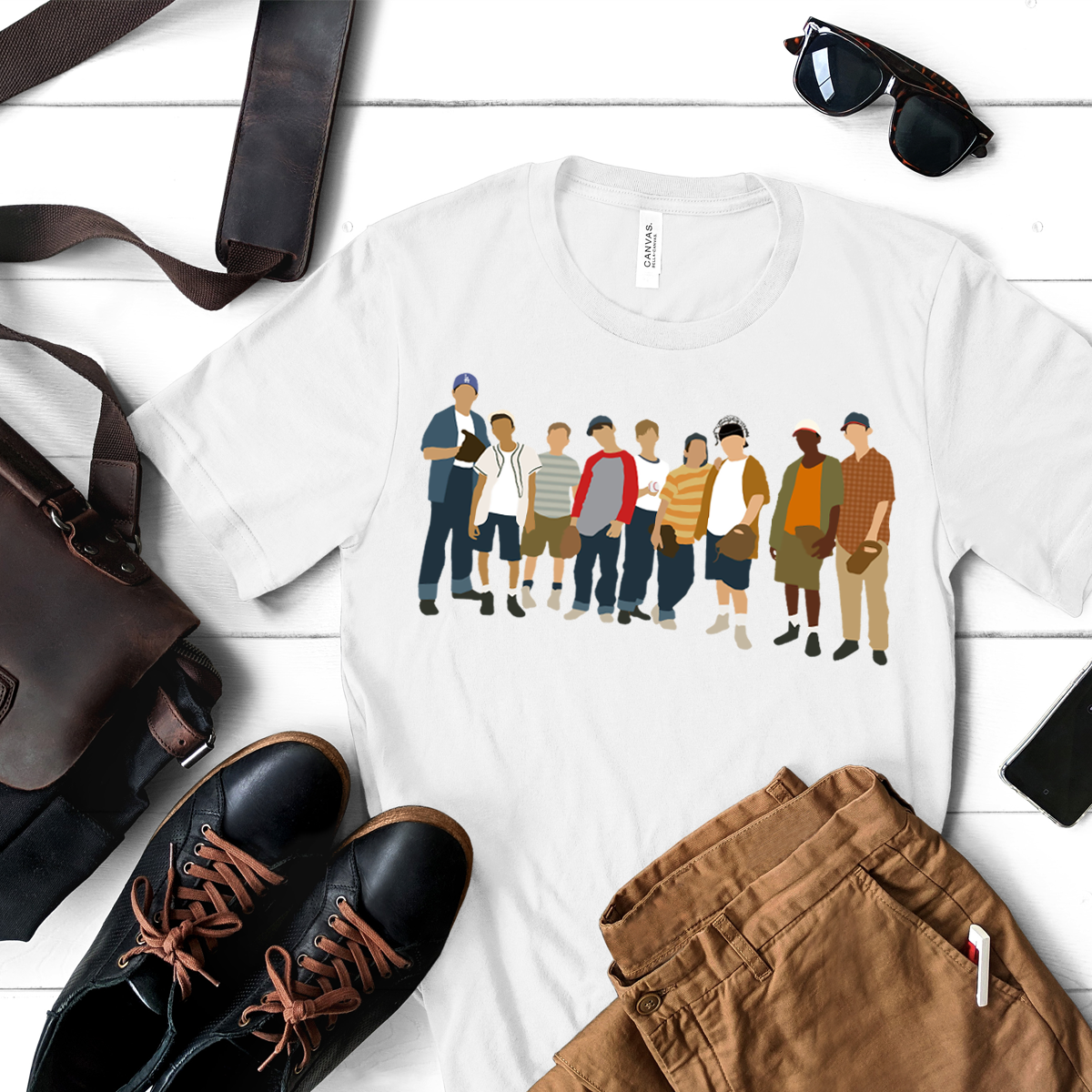 The Sandlot Movie Neighbor Friends Play Baseball T-shirt For Your Friends image