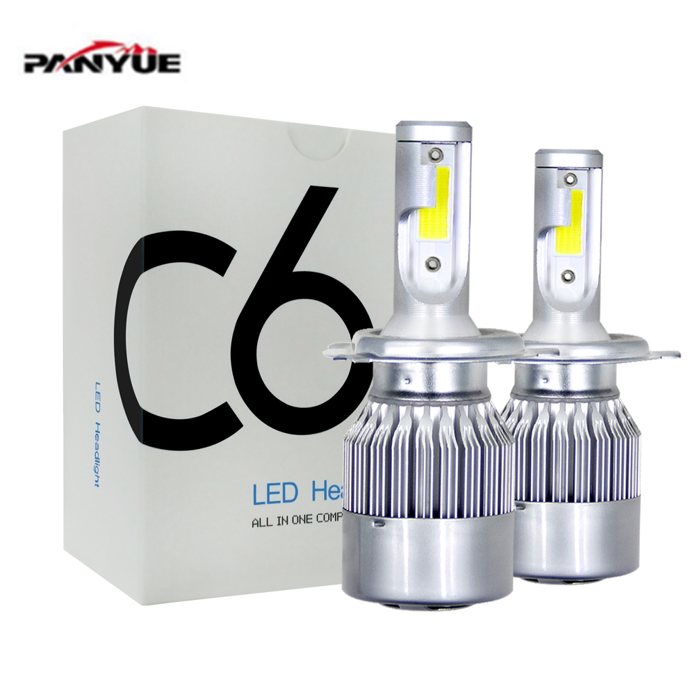 цена на All In One Automobiles 2pcs Car Headlights H4 Led Light Bulbs H1 H3 H7 9005 9006 H11 Headlamp 6000K Fog Lamps 36W 7600LM