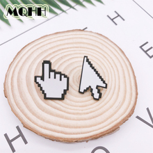 Cartoon Creative Fun Mouse Hand Arrow Enamel Brooch Alloy Badge Denim Shirt Bag Pin Accessories Jewelry Gift For Friends creative personality gestures alloy brooch enamel pin mini badge bag clothes jewelry gifts to friends fxm