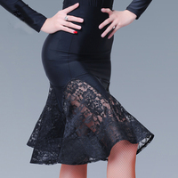 Fashion Knee High Sexy Latin Dance Skirt For Woman Female Girl Lady Ballroom Costume Training Dress