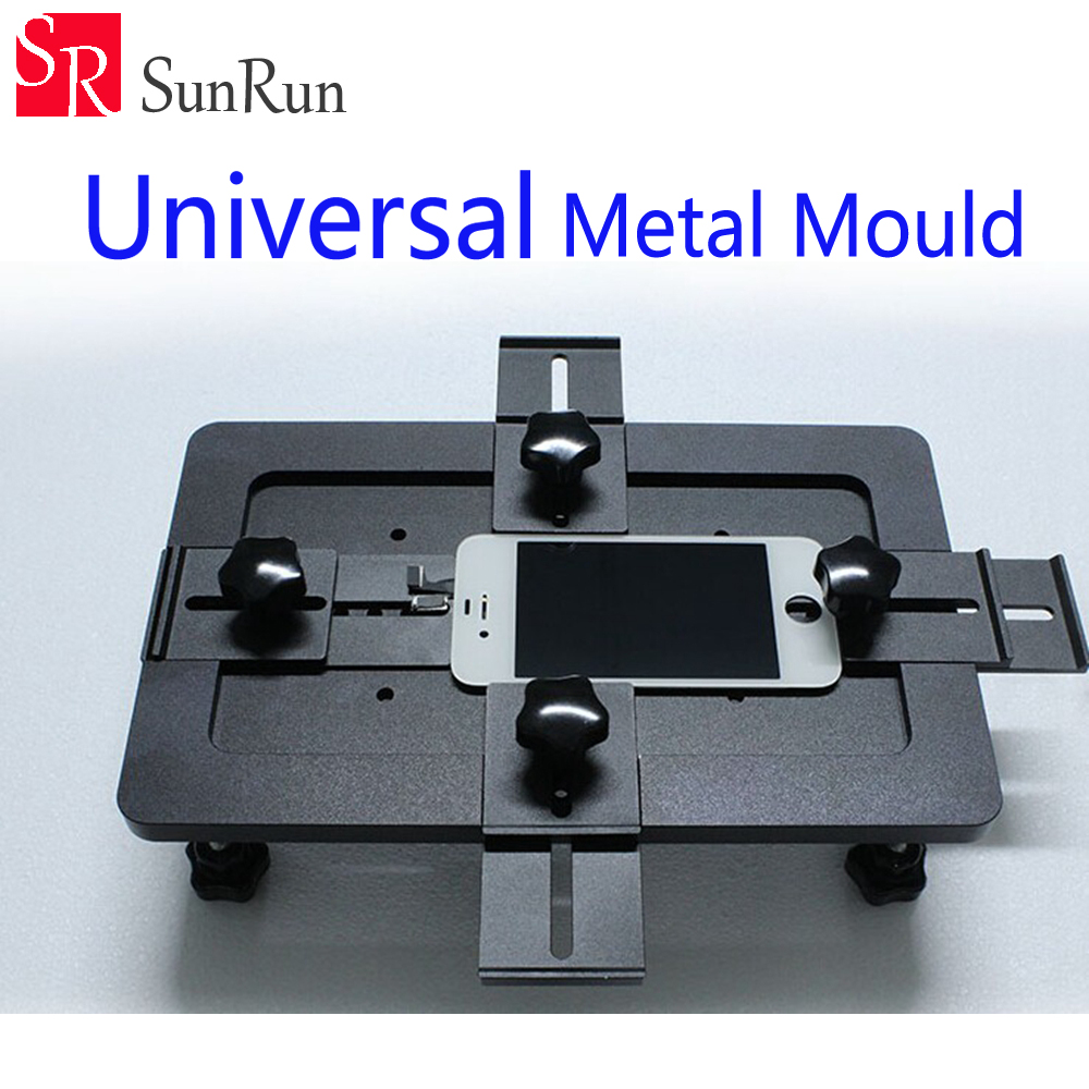 Black Universal Metal Mould Mobile phone LCD Screen Mold Jig Holder Clamp for OCA Laminating aluminium alloy universal phone lcd oca laminate fixed mold replace lcd uv glue mold mould glass holder for iphone samsung