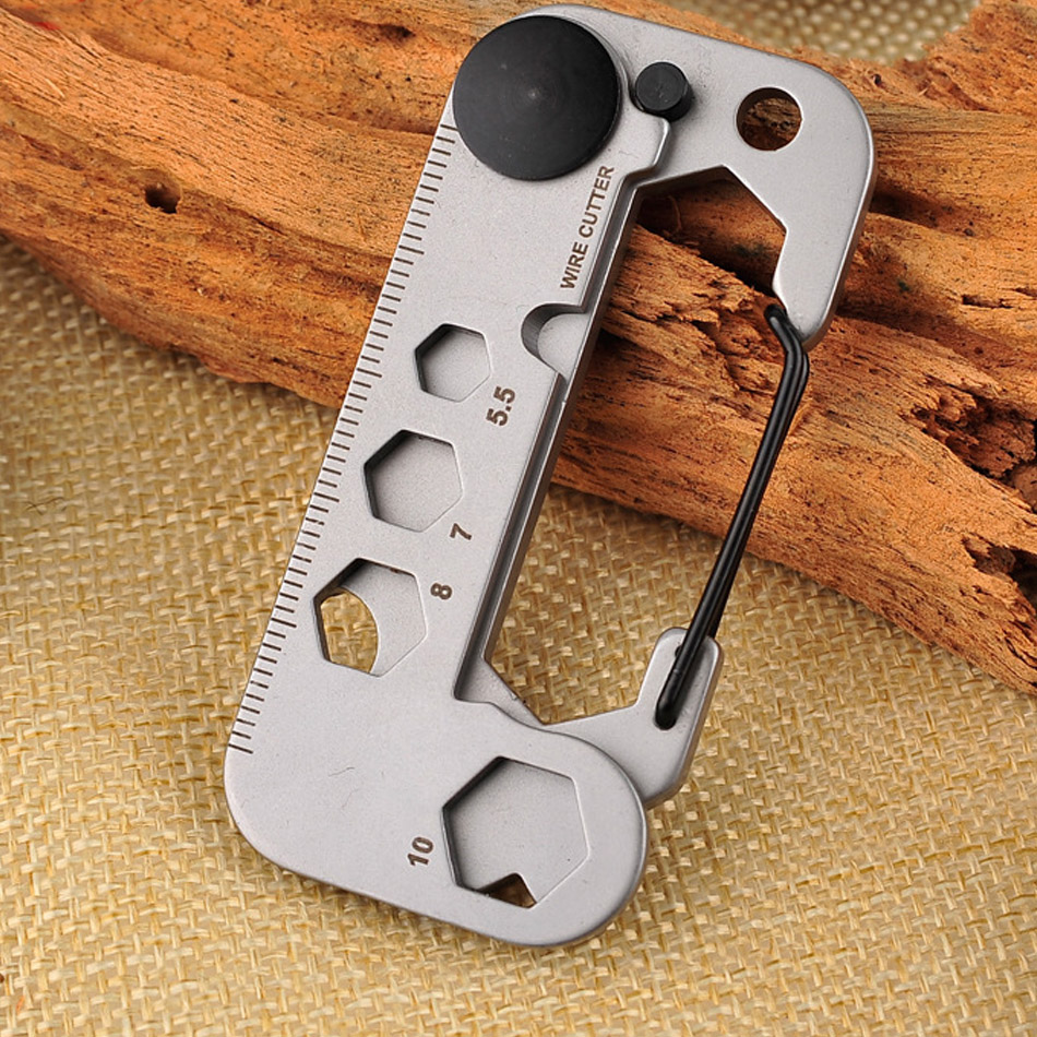 Portable EDC Gadget Multifunctional Outdoor Camping Mountaineering Key Ring For Survival  Self Help Climbing