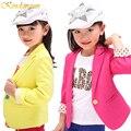 2016 Nova Primavera & Outono Crianças Ternos Casaco para As Meninas crianças Blazers Da Marca Trench Coat Da Menina Roupa de Crianças de 4 Cores, HC146