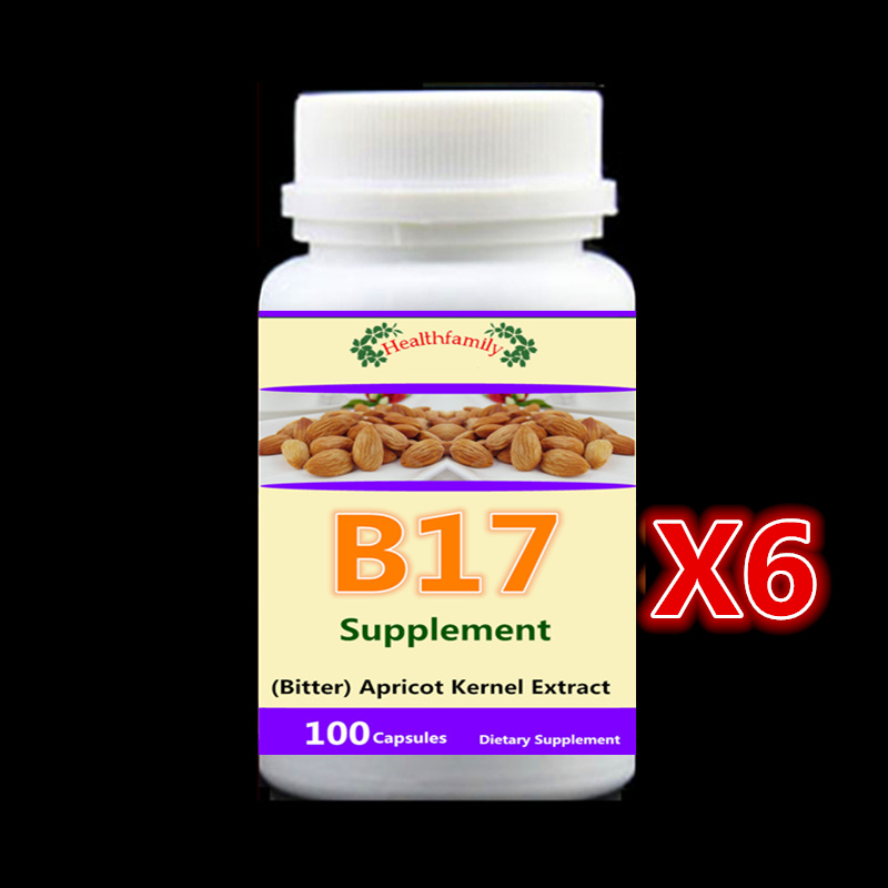 Vitamin B17 Caps (Bitter) Apricot Kernel Extract, Anti-aging Anti-cancer,6 bottle 600pieces pure nature bitter melon extract bitter melon p e powder charantin to the world