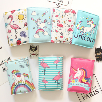 Fashion 2018 Unicorn Wallets Girls Wallet with Coin Bag clutch Small Money Purses New Design Dollar Slim Purse Money Clip Wallet wallet