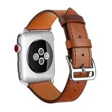 Купить с кэшбэком OSRUI Sport Leather strap For Apple Watch Band 42mm 38mm iwatch Series 3 2 1 wrist bands bracelet smart Watchband belt correa