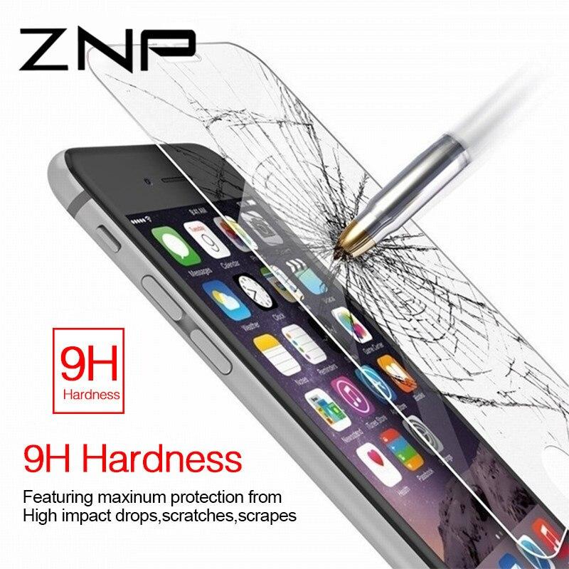 ZNP закаленное Стекло для iPhone 6 6S плюс 5 5S SE Стекло аксессуары Защитная Стекло для ...