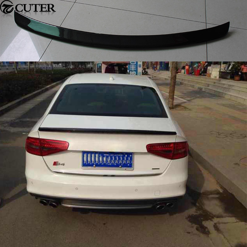 A4 B9 Carbon fiber Car Rear Wings Trunk Lip Spoiler For Audi A4 B9 13 16