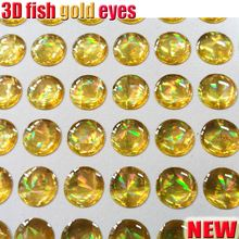 Fishing lure making fish eyes 4mm--10mm fly tying quatity;500pcs/lot color GOLD artificial