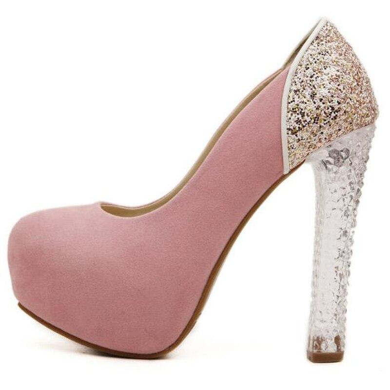 Niñas vestido rosa bombas zapatos sexy tacones altos zapatos de ...