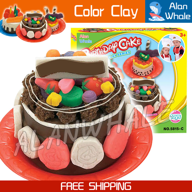 Aliexpresscom Buy Kids Playdough Birthday Cake Colorful - Colorful diy kids cakes