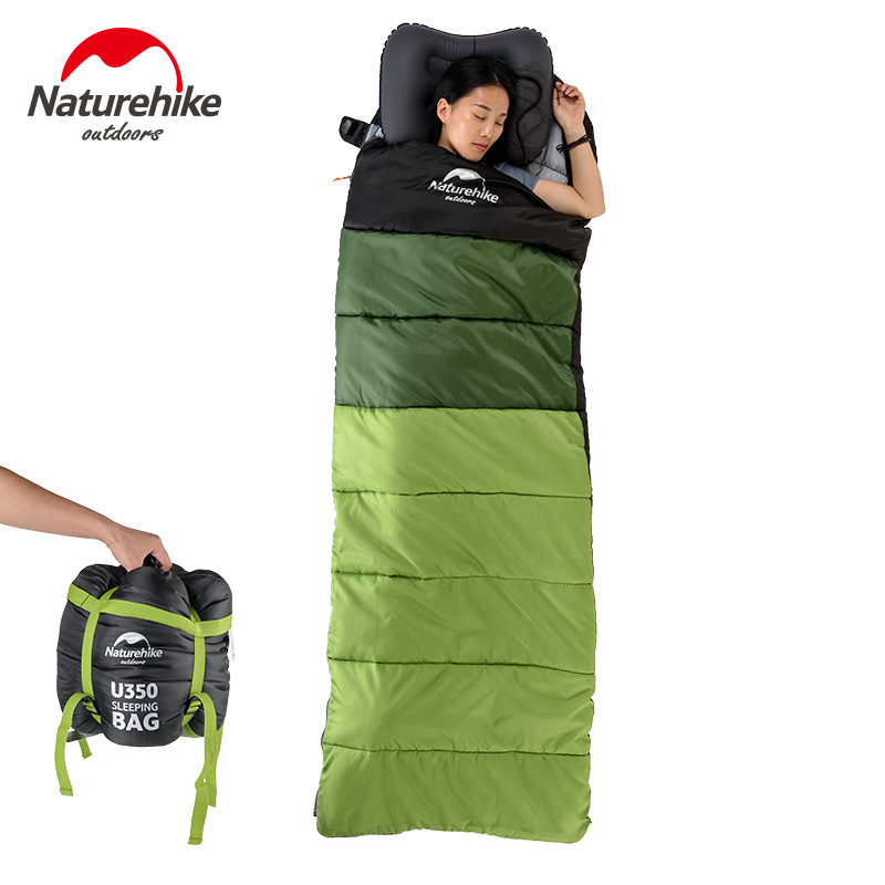 NH Adult envelope sleeping bag Spring and summer outdoor camping sleeping bag Office lunch break spliced thin sleeping bags цена