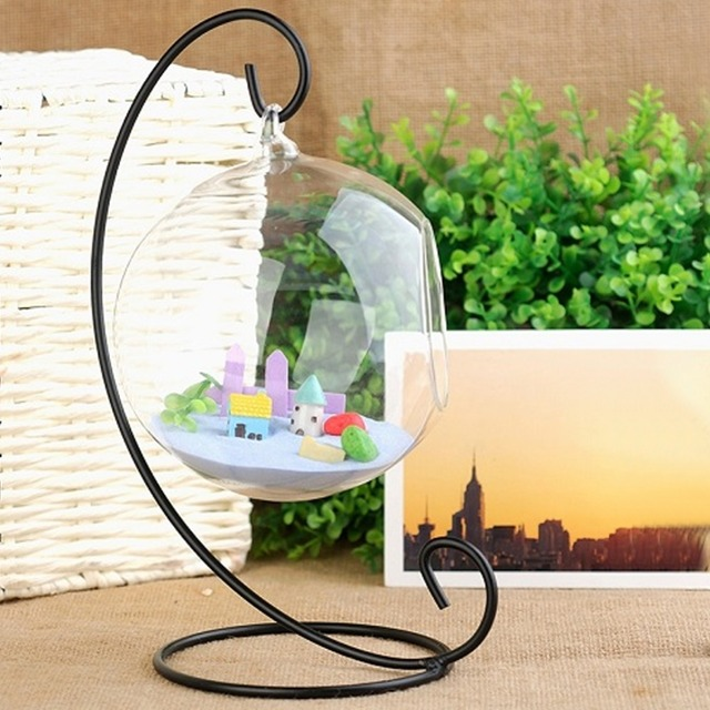 Wall Hanging Glass Plant Pot Container Terrarium Plants Flower Vase