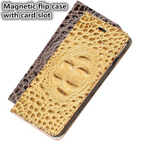 YM14 Genuine Leather Magnetic Flip Phone Cover For Nokia 6 Phone Case For Nokia 6 Leather Cover