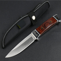 Stainless Steel Hunting Knife Multi Functional Knife Woodle Handle Fixed Blade Knife Camping Hunting Survival Knives