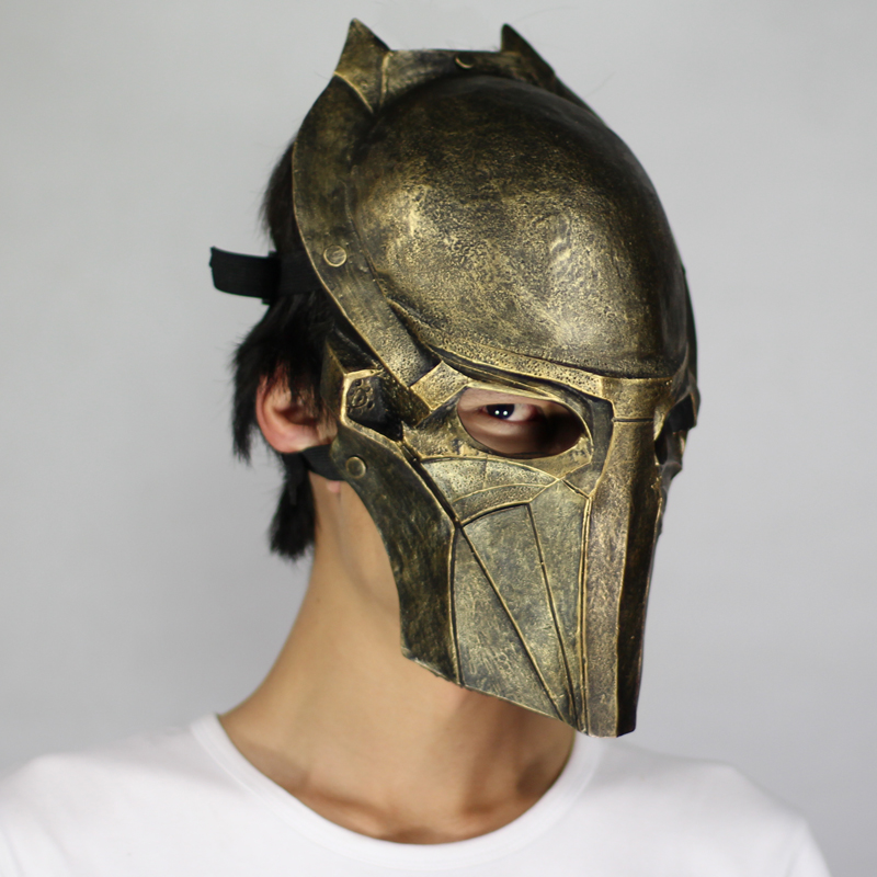 Predator Movie Game Mask For Party Halloween Christmas Cosplay Roleplay Resin Mask Adults Full Face Golden Free Shipping