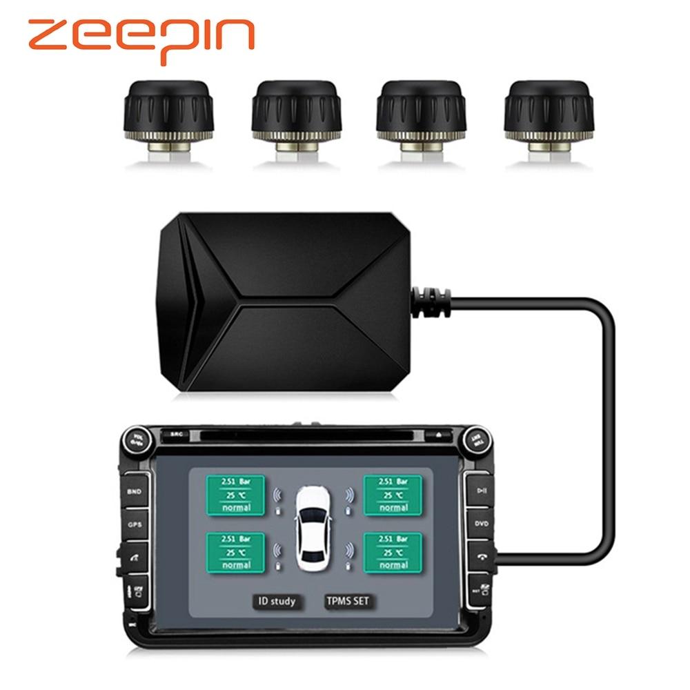 USB Android TPMS автомобильных шин давление мониторы с 4 внешних датчики 116 psi ing сигнализации системы 5 в беспроводной Трансмиссия TPMS