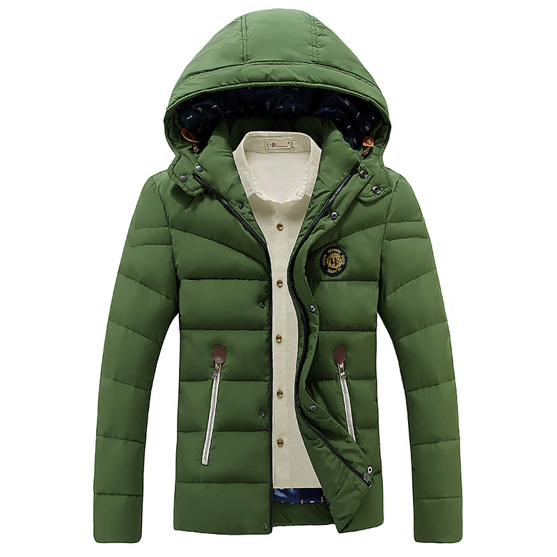 New Fashion 2016 Winter Jacket Warm Parka Men Casual Handsome Coat Thick Stand Collar Removable Hoody Clothing wholesale
