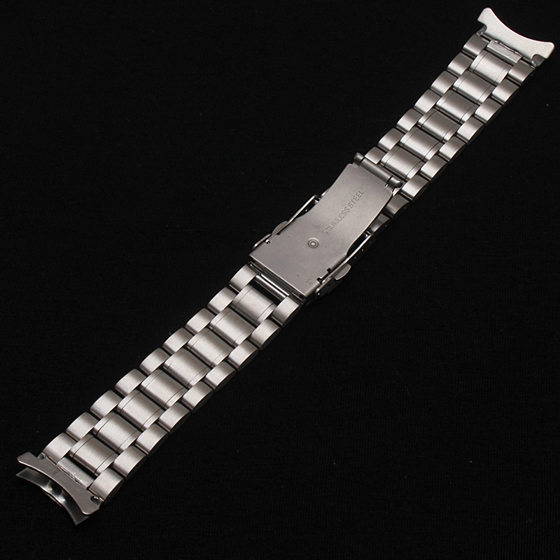Neue Heiße Verkauf Mann Frau Silber Solide Edelstahl Metall Curved - Uhrenzubehör - Foto 4