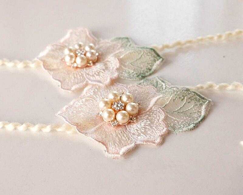 Newborn photography props super delicate temperament diamond embroidery headdress full moon 100 days shooting hair ribbon