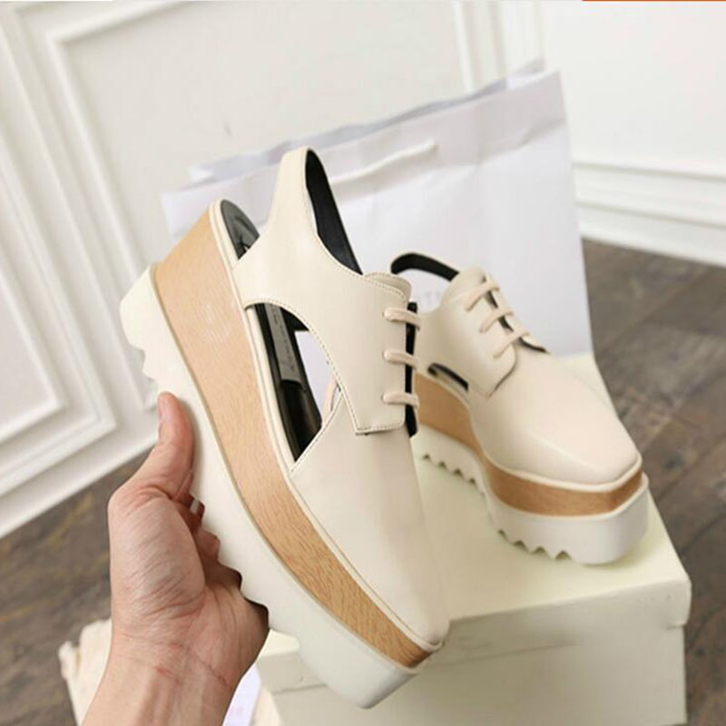 Women Sandals 2017 Summer New Open Toe Fish Head Fashion Platform High Heels Ladies  Wedge Sandals Female Shoes Genuine Leather e toy word summer platform wedges women sandals antiskid high heels shoes string beads open toe female slippers