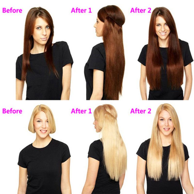 1pc Straight Hairpiece Synthetic Hair Halo Hair Extension Secret