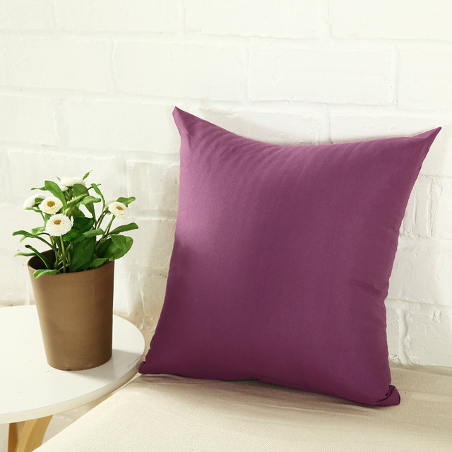 One Colored Pillow Case 4