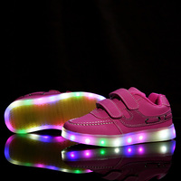 BBX Brand NEW Children USB Charging Sneakers Kids LED Lighted Shoes Boys Girls Of Colorful Flashing