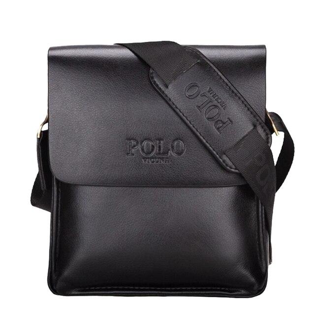 Luxury Brand Men Bag Letter Printed Leather Messenger Bag Retro Designer Handbag Small Business Briefcase Crossbody Bags For Men