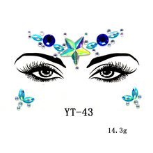 Fashion Women DIy New Face Jewels Rhinestones Beauty  Glitter Tattoo Electric Syllable Nightclub Party Performance Body Jewelry electric festival body art jewels paste diy chest drill acrylic drilling performance make up bar nightclub music party