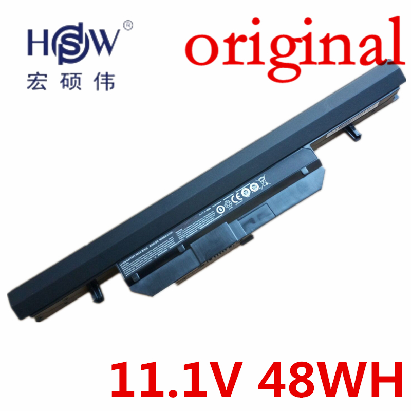 HSW   11.1V 48wh laptop battery for Clevo WA50BAT-6 3ICR18/65-2 6-87-WA5RS-424 bateria akku hsw brand new 6cells laptop battery c4500bat 6 c4500bat6 6 87 c480s 4p4 for clevo c4500 series laptop battery bateria akku