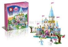 Compatible with Legoe Girl Friends SY325 Disni Princess Cinderella's Romantic Castle tower MINIfigures building block Toys