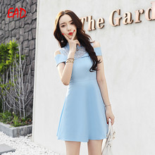 EAD Elegant Sleeveless Summer Dress Women Patchwork Lace Solid Spaghetti Strap Vestidos Sexy Mini Vintage Dresses for Female
