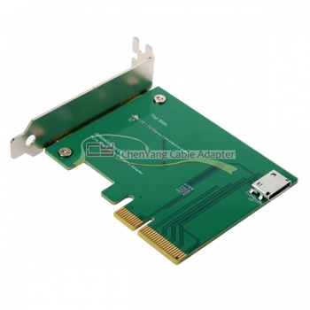CY PCI-E 3.0 x4 to Oculink SFF-8612 SFF-8611 Host Adapter for PCIe SSD with Low Profile Bracket