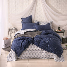 4 Hot selling Free Shipping 3/4 PCS Reactive Printing Bedding Set Duvet Cover Set Bed Linen Diamond Sheet Bedding72(China)