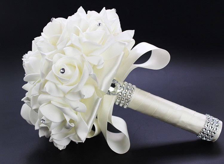 2016-Artificial-White-Royal-Blue-Rose-Flowers-Bridal-Bouquet-With-Rhinestone-Crystal-Bouquets-For-Weddings-Wedding (2)