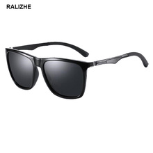 RALIZHE Brand Men Women Polarized Sunglasses Square Design Fishing Driving Goggle Black Sun Glasses Eyewear Accessories UV400