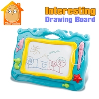 Minitudou Preschool Toy Magnetic Drawing Board Baby Kid Child Writing Board Plastic Paint Pad Doodle Writing