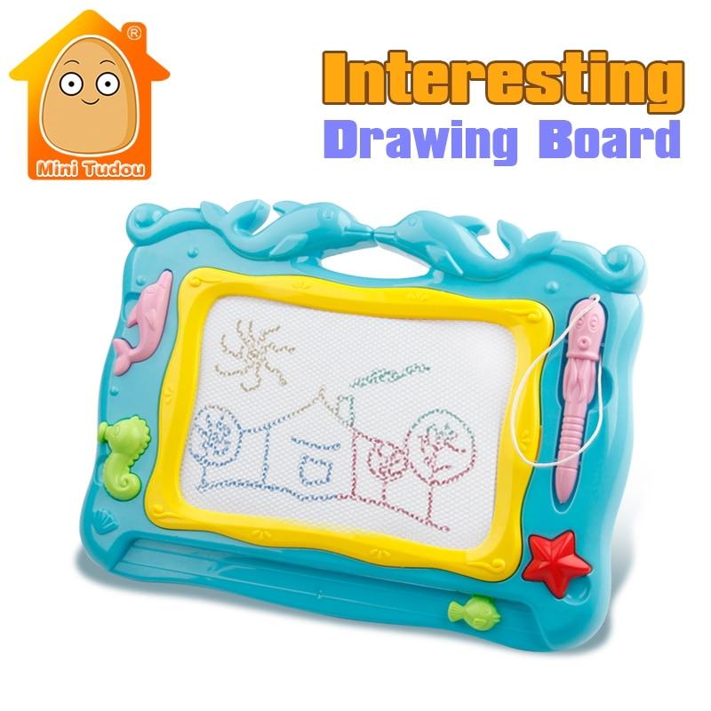 Minitudou Preschool Toy Magnetic Drawing Board Baby Kid