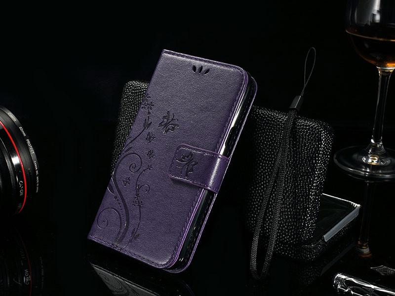 Dla microsoft nokia lumia 640 lumia 630 lumia 550 worek nadrukowane butterfly pu wizytownik skórzany telefon okładka case shell 20