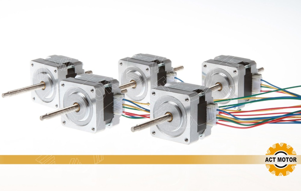 Free ship from Germany! ACT 5PCS Nema16 Linear Motor 16HSL3404 12V 34mm 0.21N.m 100mm Stoke Length CE ISO RoHz