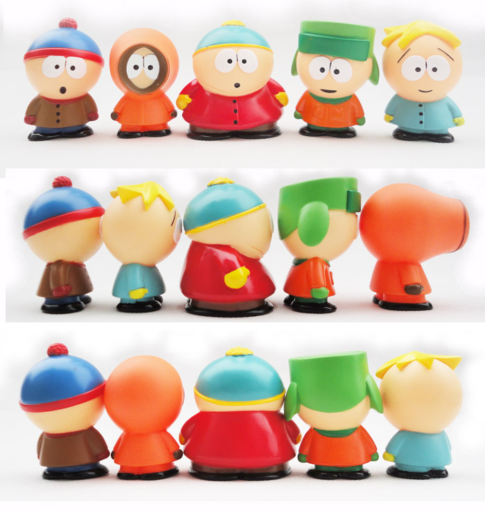 Huong Anime Figure South Park Stan Kyle Eric Kenny Leopard Mini 6cm PVC Action Figure Collectible Model Toy Kids Gifts arale figure anime cartoon dr slump pvc action figure collectible model toy children kids gift 6 types