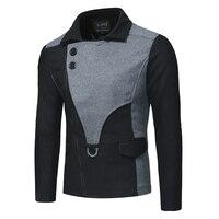 2018 New Arrival Autumn Coat Men Jacket Brand Clothing Fashion Mens Lapel Jacket Coat Top Quality Cotton Male Overcoat M XXL