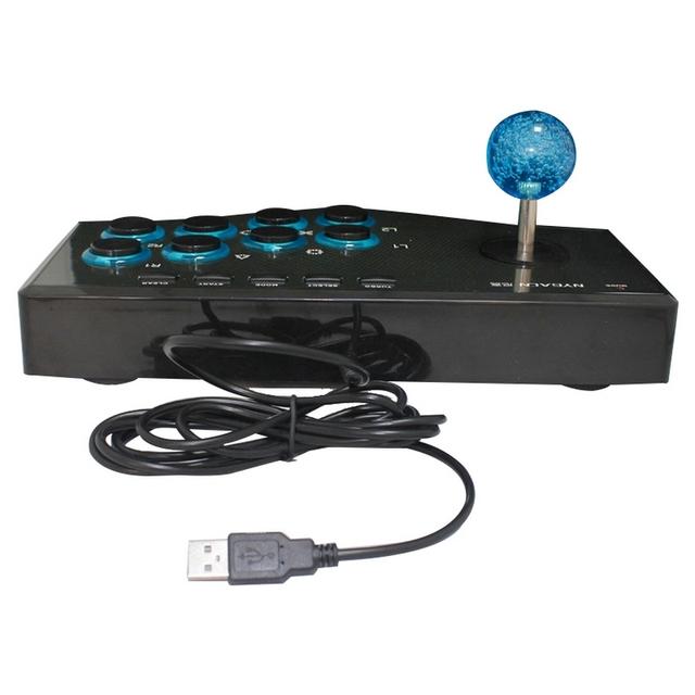 Computer arcade joystick PC street fighting game controller USB gamepad for Windows XP Win7 Win8 Win10 plug & play free driver