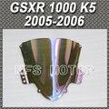 Motorcycle Part Magic color For Suzuki GSXR 1000 K5 Double Bubble Windshield/Windscreen - iridium 2005 2006 05 06