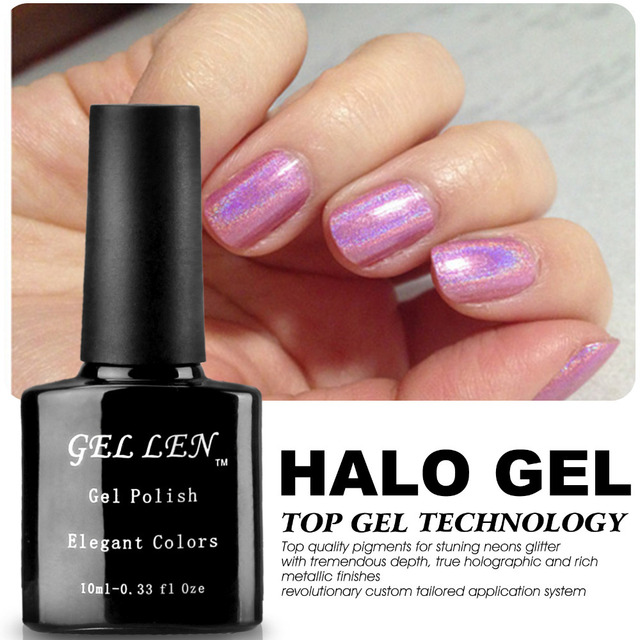 Gel Len 20 Elegant Colors Halo Gel Polish Fashion Nails Art Glitter Lacquer LED Soak Off Long-lasting Gel Varnish Polish